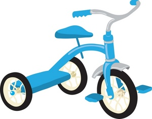 Tricycle clipart animated Art Clip of a Tricycle