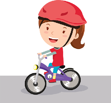 Bike clipart knee pad Riding riding Girl and Clipart