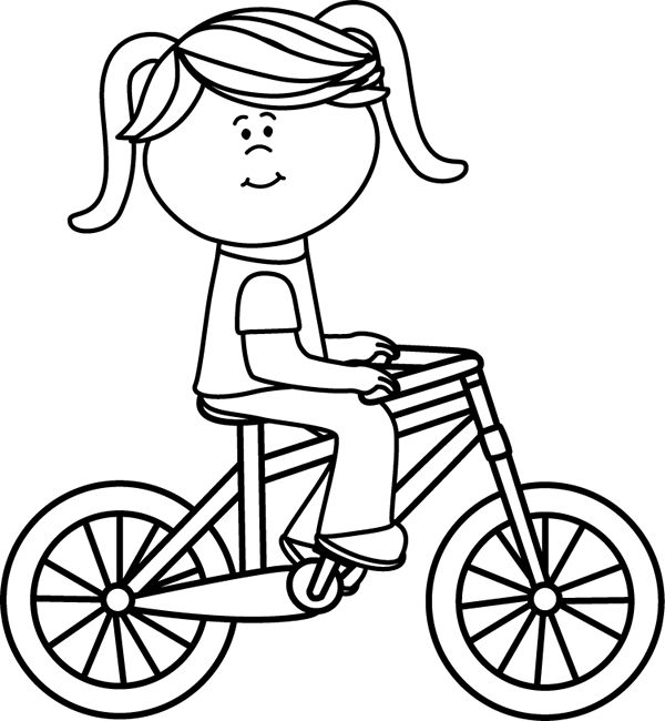 Bicycle clipart weekend activity BIKE White on Riding Bicycle
