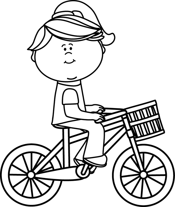 Ride clipart black and white White Bicycle Clip clipart Images