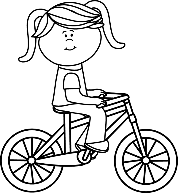 Ride clipart black and white Clipart Black Bike Clipart And