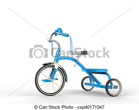 Tricycle clipart blue Clip of Art tricycle side