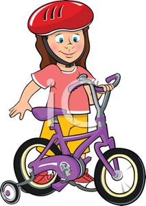Bicycle clipart kid tricycle Image Young Girl Clipart A