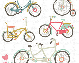 Bicycle clipart retro bike Spring Vintage Clipart