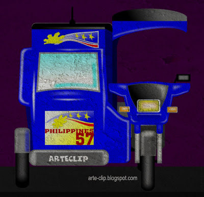 Tricycle clipart philippine Motorcycle Arteclip sidecar a Philippine