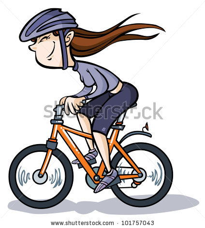 Bicycle clipart female cyclist Bike  Girl pictures Bike