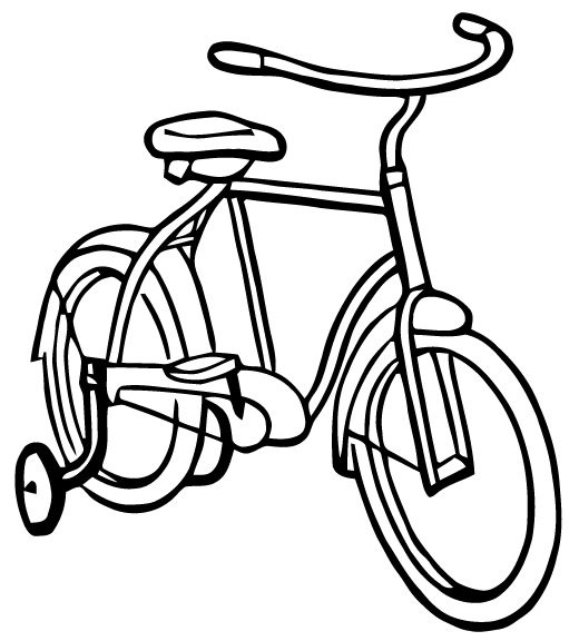 Bicycle clipart training wheel Training Art: with Bike from