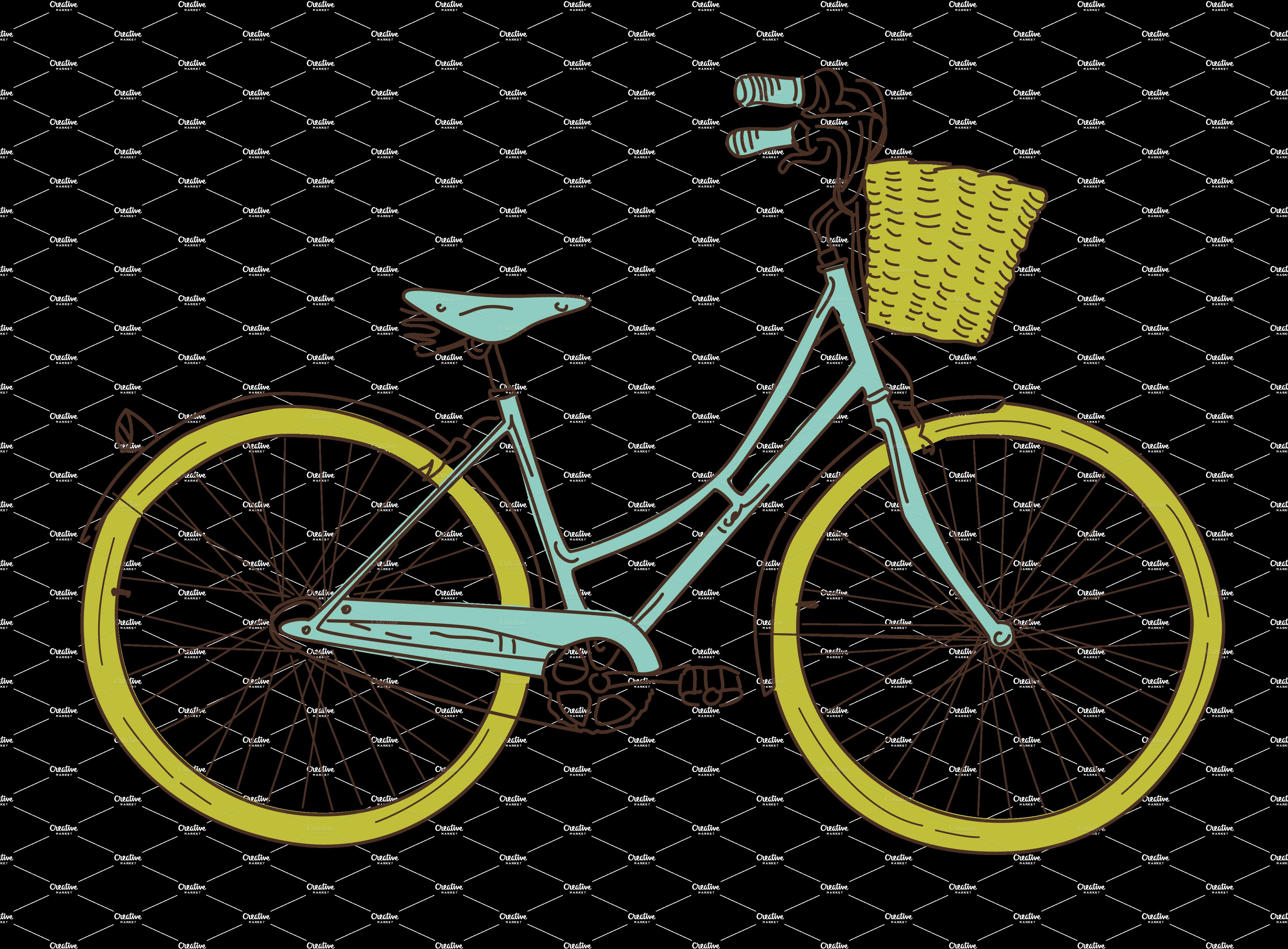 Basket clipart bike (50+) bicycle art vintage Bicycle