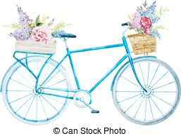 Bicycle clipart old fashioned  Beautiful with Vector nice