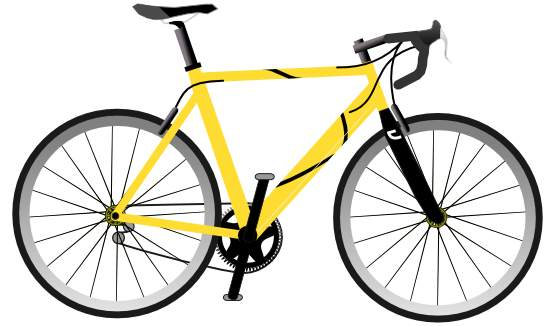 Yellow clipart motorbike Art Pictures Yellow Bicycle clip
