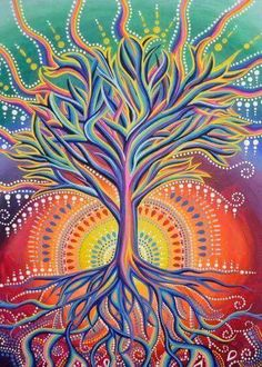 Triipy clipart acrylic painting Drawings Drawings TREE Trippy