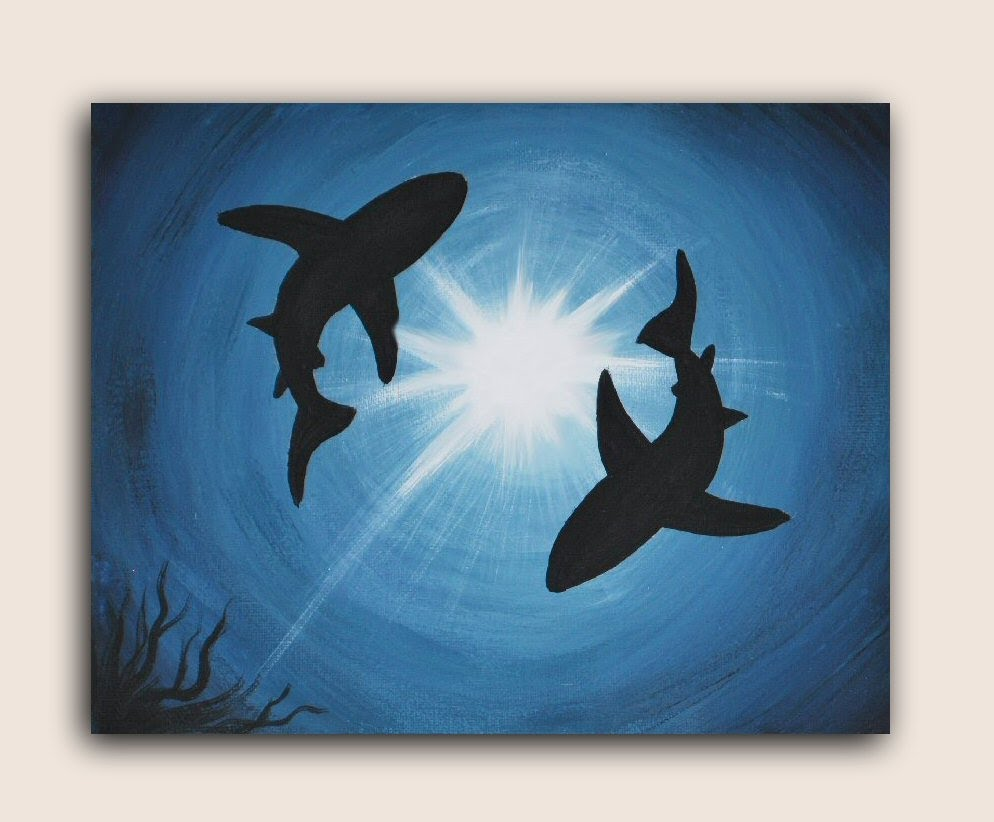 Triipy clipart acrylic painting More #AcrylicPainting Shark Acrylic Find