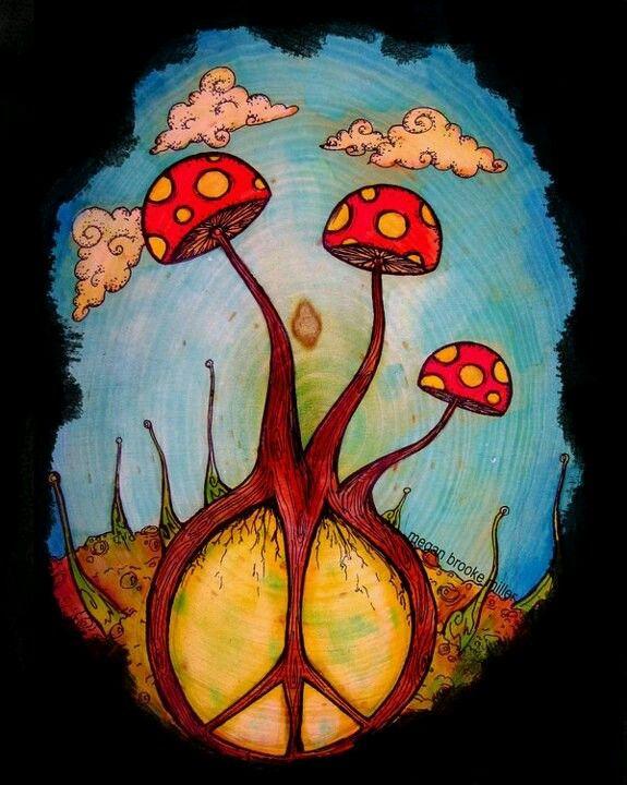 Drawn triipy scenery Ideas art on : Mushroom
