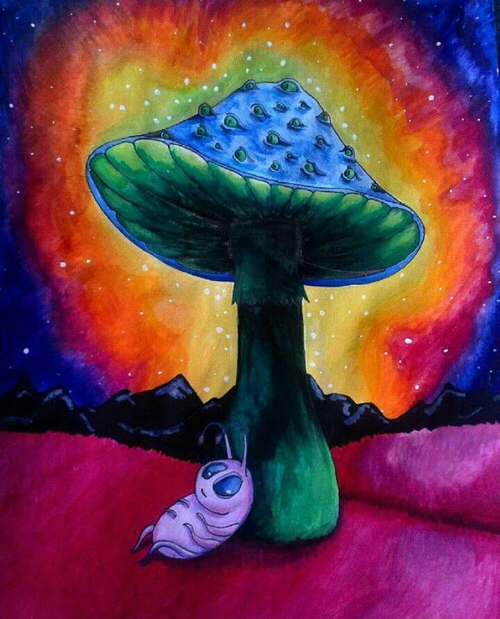 Triipy clipart acrylic painting Mushroom Pinterest Psychedelic drawing art
