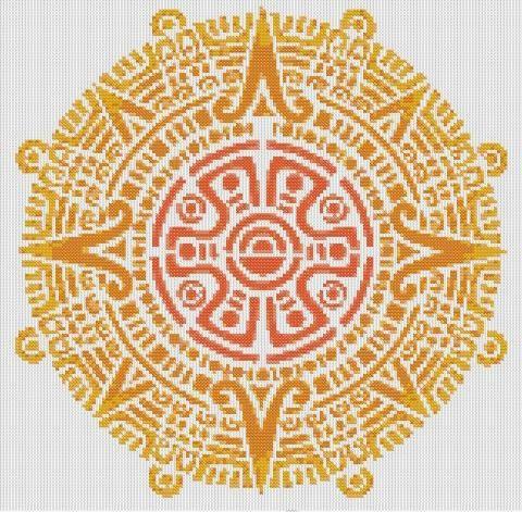 Triipy clipart aztec sun Pinterest Aztec / stitch mandala