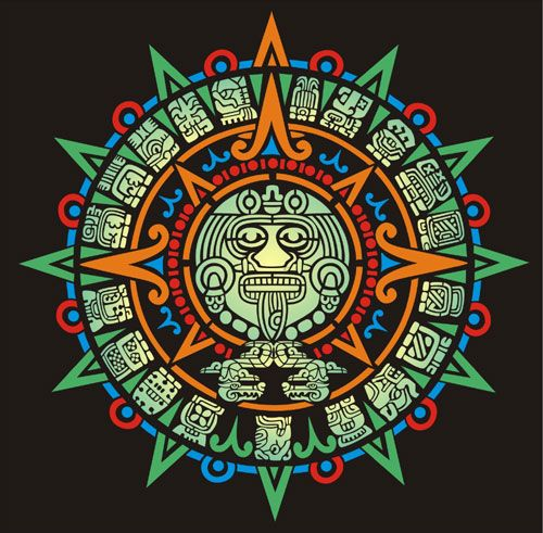 Triipy clipart aztec sun On Aztec Stencil Designs and