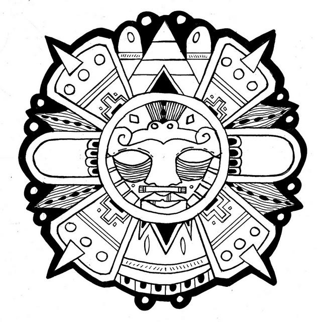 Aztec clipart sun god #2