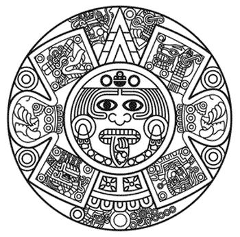 Triipy clipart aztec sun Aztec symbol (350×345) mazatl Aztec