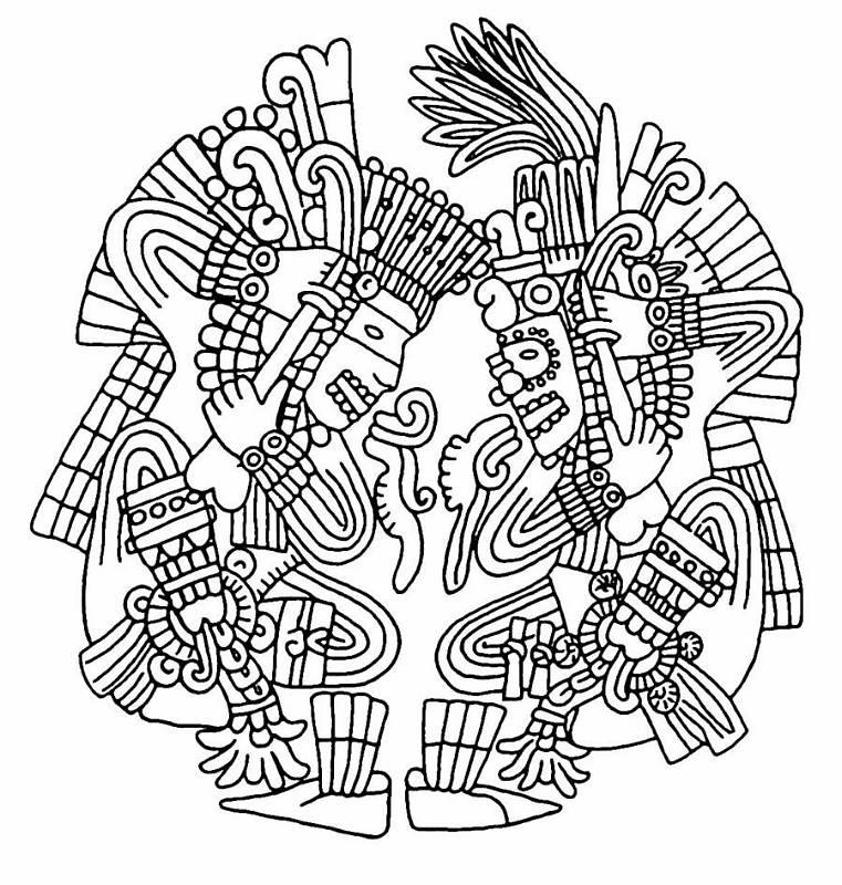 Triipy clipart aztec sun Aztec Aztec imágenes Stenciling Pinterest