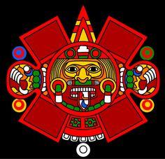 Triipy clipart aztec sun Tonatiuh art Calendar Aztec Aztec