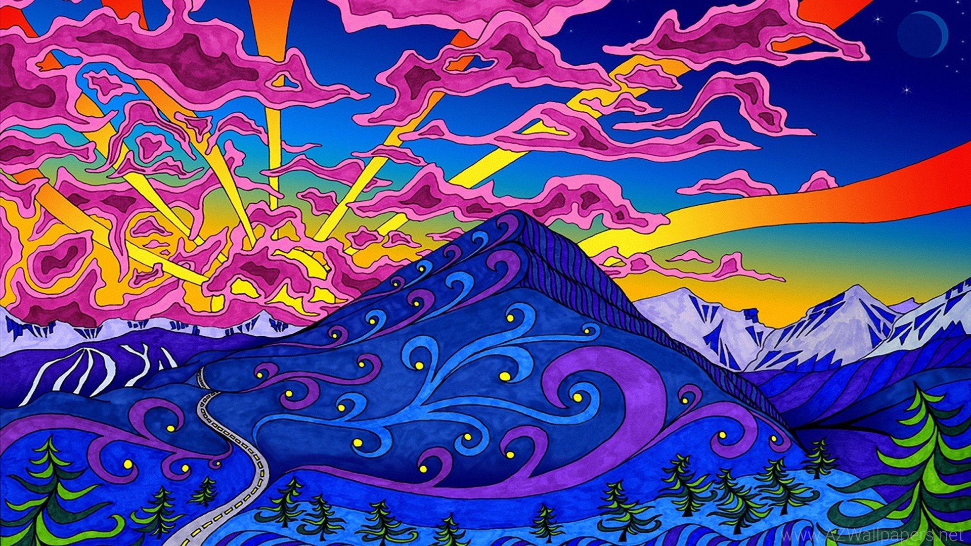 Triipy clipart background HD Psychodelic Backgrounds Wallpapers Art