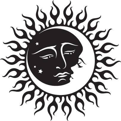 Triipy clipart celestial Sun  Black And tattoo