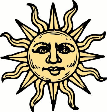 Triipy clipart celestial Face clipart Sun Clipart Sun