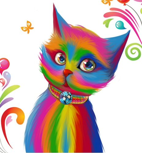 Triipy clipart colorful Kitty @deviantART Pinterest images 141