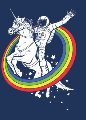 Triipy clipart cute Cute space rainbow by unicorn