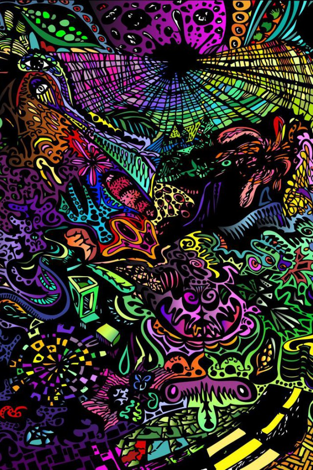 Trippy clipart colorful #2