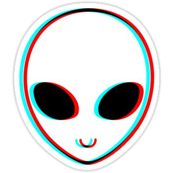 Triipy clipart high resolution Alien Sticker Trippy Trippy Alien