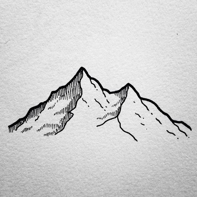 Mountain clipart sketch easy #12