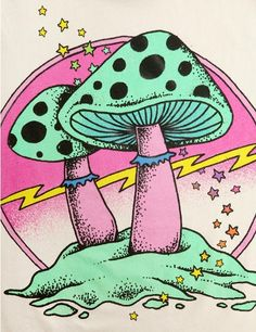 Mushroom clipart trippy #4