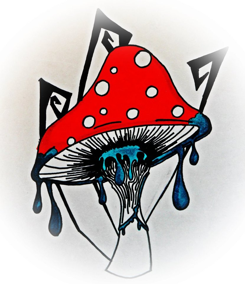 Mushroom clipart trippy #7