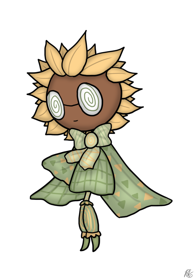 Triipy clipart sunflower DeviantArt PoppyWolfMoon Entry) Sunflower Trippy