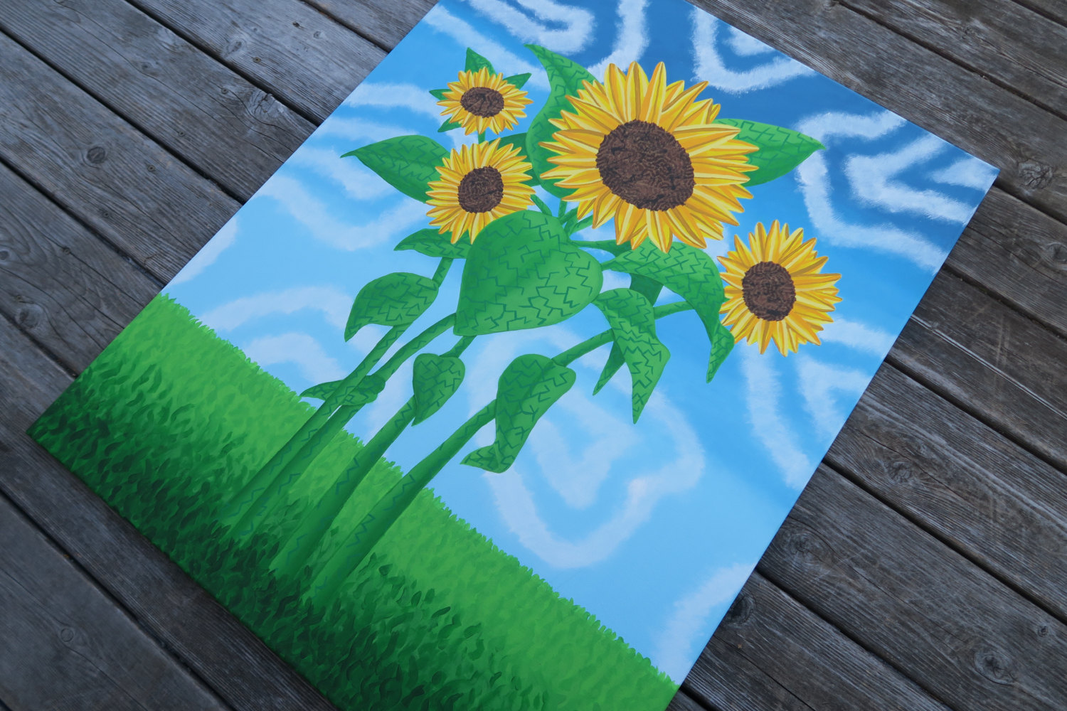 Triipy clipart sunflower Trippy Painted Surreal  Sunflower