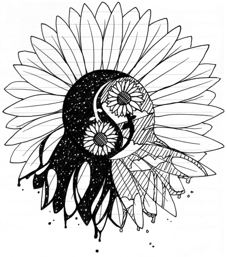 Triipy clipart sunflower <3 on ~elusiveCONQUEROR RD deviantART