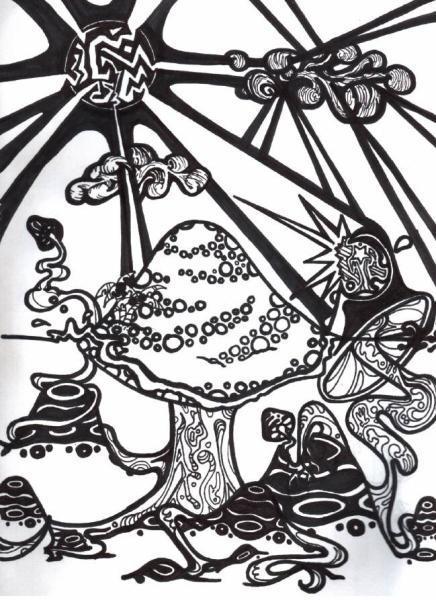 Mushroom clipart trippy #12