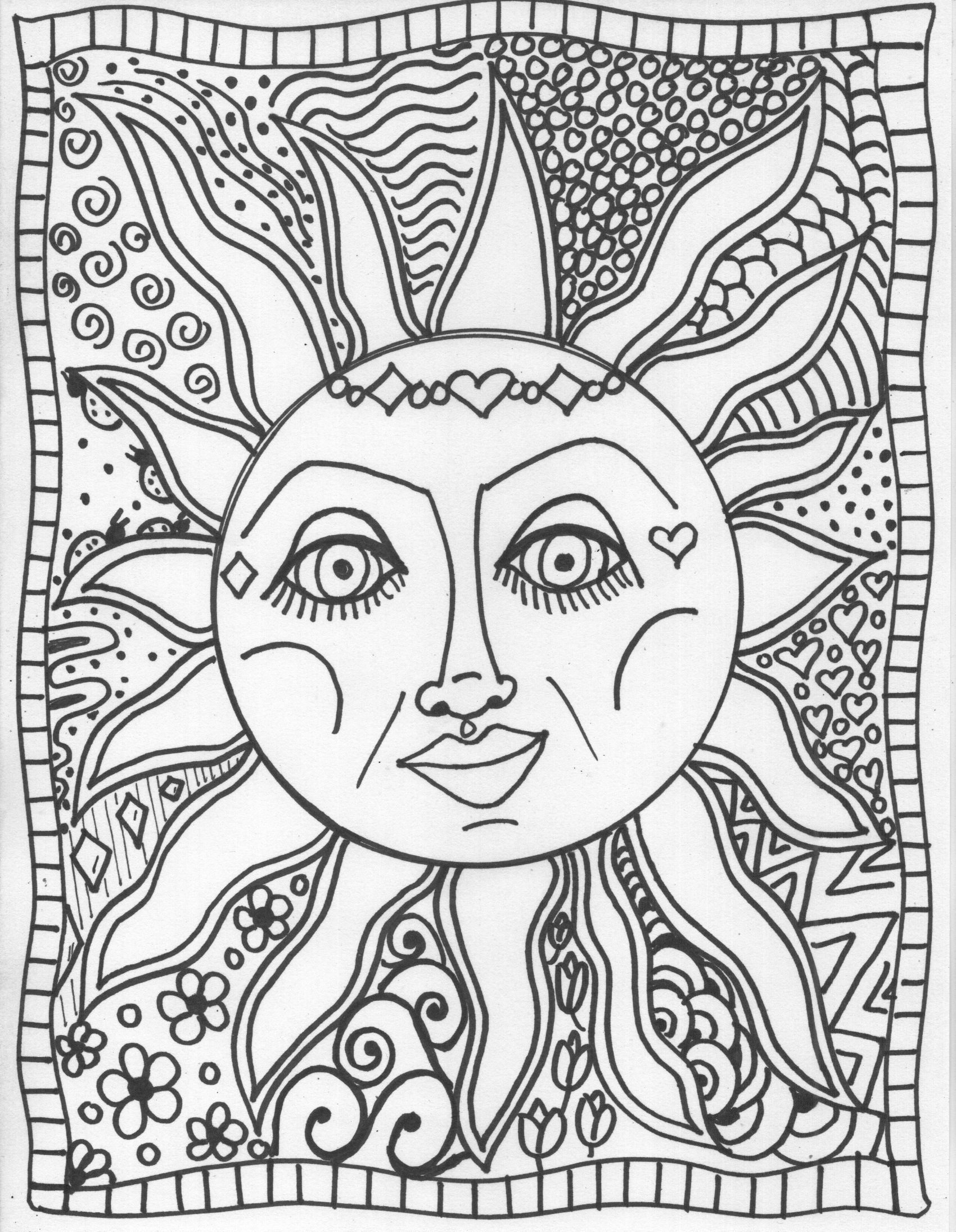 Triipy clipart trippy color Coloring coloring book Enjoy pages