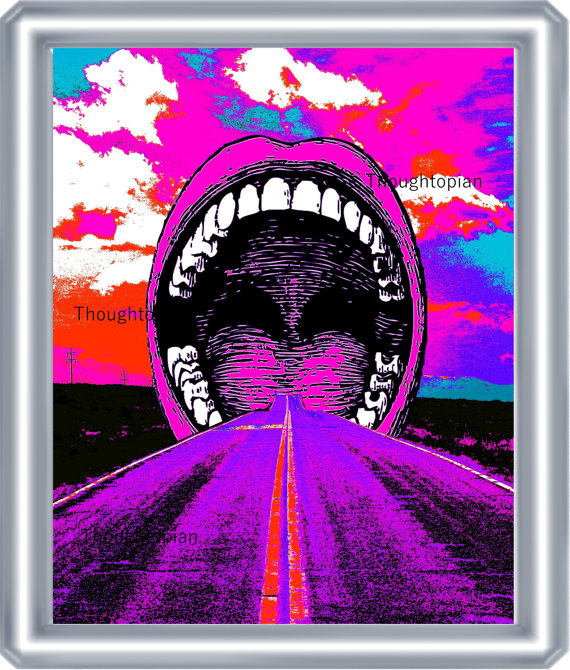 Triipy clipart trippy music Trippy Leading Mouth Print Art