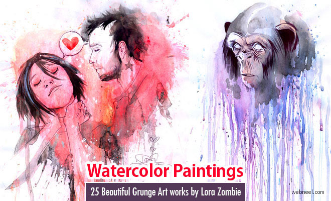 Triipy clipart watercolor Watercolor Psychedelic Beautiful works Art