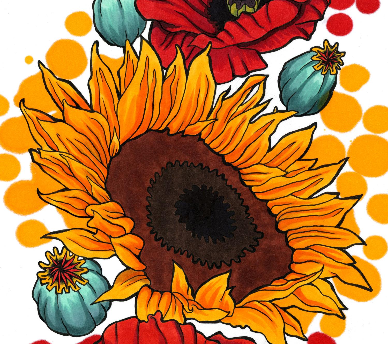 Trippy clipart sunflower #14