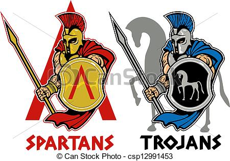 Trojan clipart shield Vector Vector and spartan with
