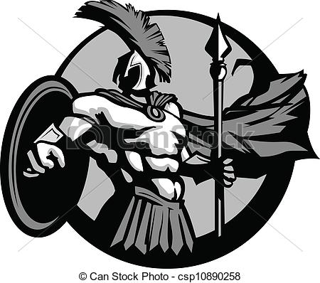 Trojan clipart shield With Strong Trojan Vector Clipart