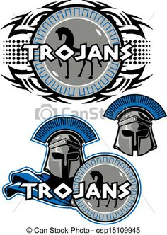 Trojan clipart trojan head Stock Gallery art Art Logo