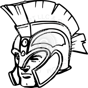 Trojan clipart trojan head Head facing left Trojan head
