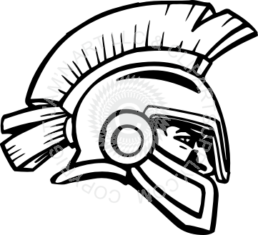 Trojan clipart trojan head Head facing right Trojan head