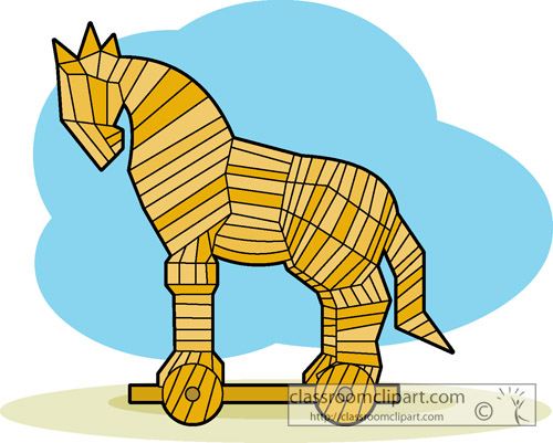 Trojan Horse clipart Computer Download Virus Virus Art