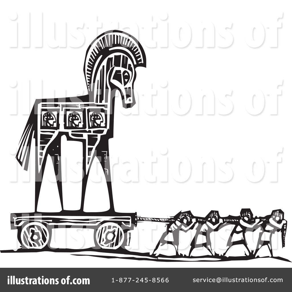 Trojan Horse clipart Royalty Illustration Free #1344238 Horse