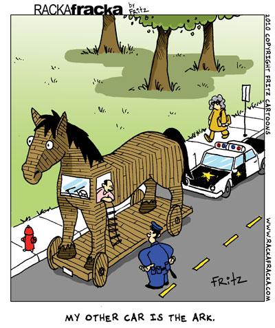 Trojan Horse clipart wooden Subscribe Horse Rackafracka Cartoon by